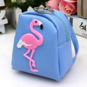 Mini sac à dos femme motif flamant rose - Sac à main Porte-monnaie