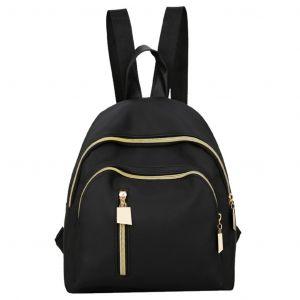 Sac à dos noir style décontracté pour femme - Sac à dos scolaire Sac à dos