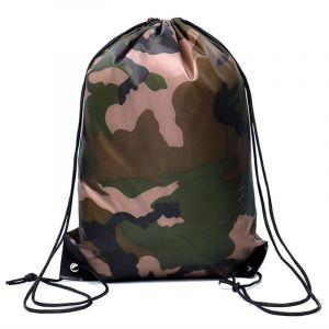 Petit sac à dos camouflage avec cordon de serrage - Sac à dos à cordon Cordon de serrage