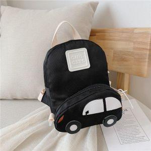 Sac à dos enfant avec poche en forme de voiture - Noir - Sac Sac à main
