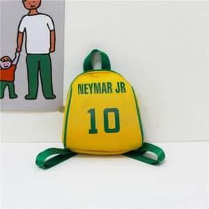 Petit sac à dos motif joueur de football - Jaune - Pièce Des biens