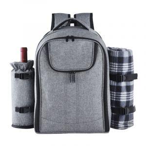 Grand sac à dos isotherme de pique-nique gris - Sac à dos Sac