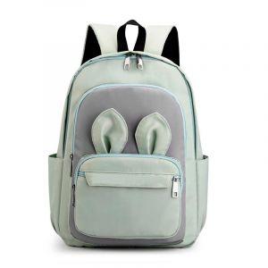 Sac à dos fille avec oreilles de lapin - Vert - Sac à dos Sac à dos scolaire