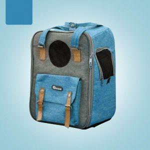 Sac à dos transport chat avec poche - Bleu - Chat Chien