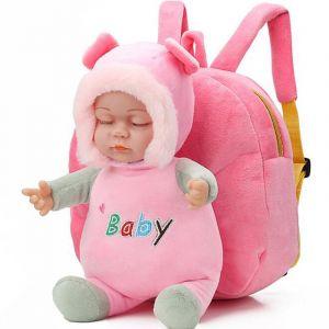 Sac à dos peluche bébé 3D - Sac à dos scolaire Sac à dos fille