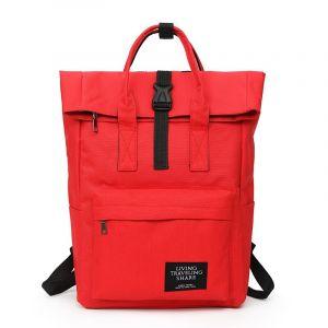 Sac à dos d'ordinateur Rolltop pour femme - Rouge - Sac à dos Sac à dos scolaire