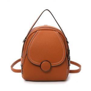 Petit sac à dos cuir femme - Marron - Sac à dos en cuir pour femmes Sac à dos