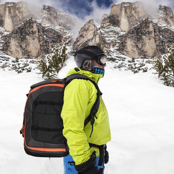Sac À Dos De Ski De Grande Capacité 50L Étanche Avec Attaches Pour Matériel